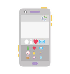 Colorful smartphone technology with chat emojis vector