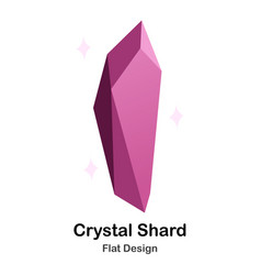 Crystal shard flat icon vector