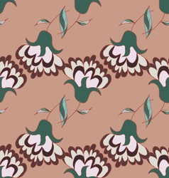 Cute hand drawn pattern with flowers vector