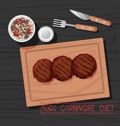 Cutlet carnivore diet vector