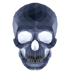Dark crystal skull vector