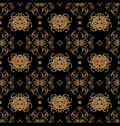decorative seamless pattern in vintage gothic vector image