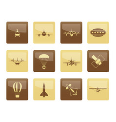 different types of aircraft vector image