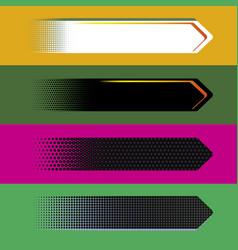 Digital style arrow banners vector