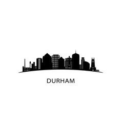 Durham city skyline black cityscape isolated vector
