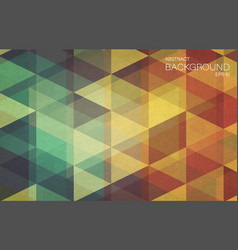 flat retro color geometric triangle background vector image