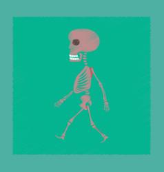 Flat shading style icon skeleton halloween monster vector