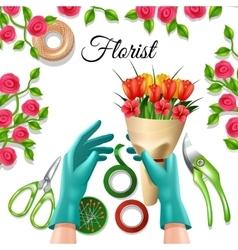 Florist Color Concept vector image