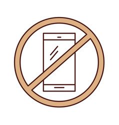 Forbidden to use cell phones vector