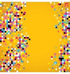 Fun pixel background 3 vector