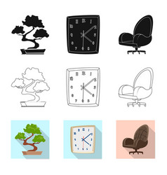 furniture and work symbol vector image