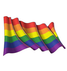 Gay pride waving flag vector