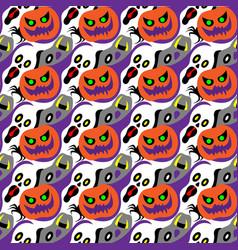 halloween seamless pattern design vector image
