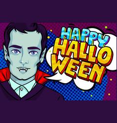 halloween vampire with fangs vector image