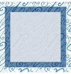 Hand Drawn Square Background or Frame vector image
