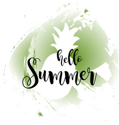 hello summer concept image with fruits vector image