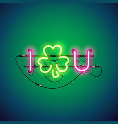 i luck you neon sign vector image