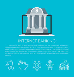internet banking vector image