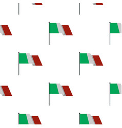 Italian flag pattern flat vector