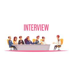 Job interview recruiting background vector