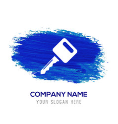 key icon - blue watercolor background vector image