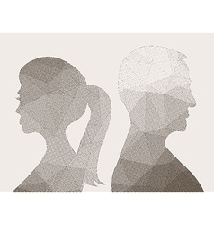 Man and woman vector