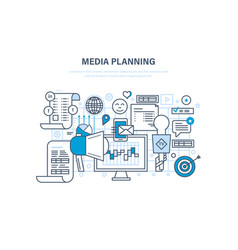 Media planning digital marketing advertising vector