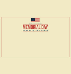 Memorial day theme banner vector