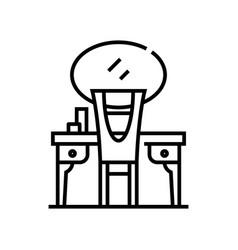 Mirror line icon concept sign outline vector