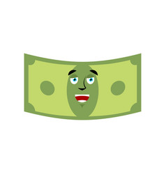 Money happy emotion cash emoji cheerful dollar vector