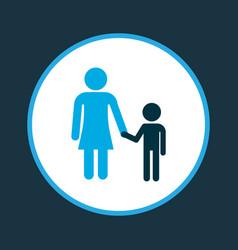Mother icon colored symbol premium quality vector