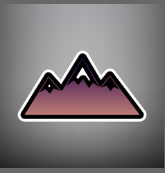 mountain sign violet vector image