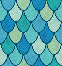 Overlapping fish scales or feathers pattern vector