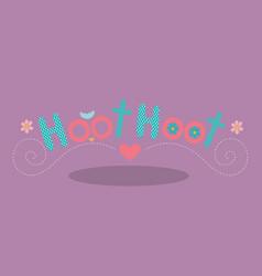 Owl hoot pink 11 vector