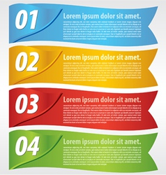 Paper banner with numbered vector