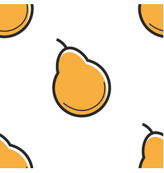 pear fruit seamless pattern farm organic food from vector image