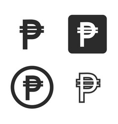 peso currency symbol set vector image