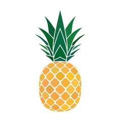 Pineapple yellow icon vector