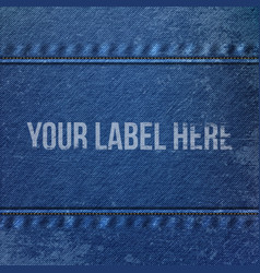 Realistic Denim blue Cloth Texture vector image