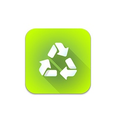 Recycle waste sign icon vector