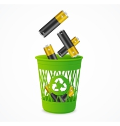 Recycling Battery Concept vector
