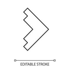 Right arrowhead linear icon forward triangular vector