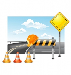 Road construction vector