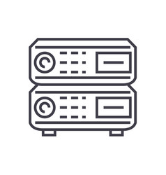 router line icon sign on vector image