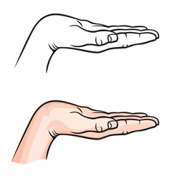 ruka ispruzena vector image