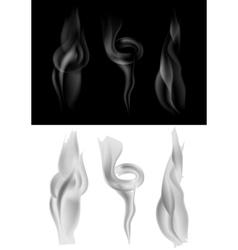 set dark and light smoke vector image