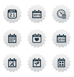 Set of simple calendar icons vector