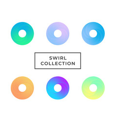 set of swirl vector image