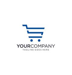 Shopping trolley logo designs concept vector