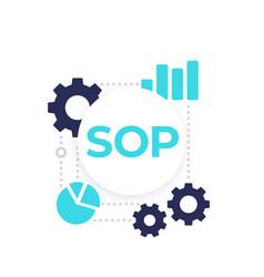 sop vector image